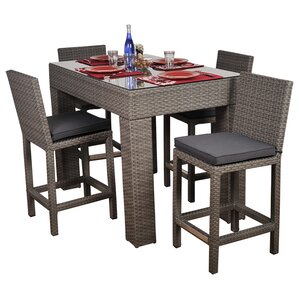Amara 5 Piece Patio Bar Set
