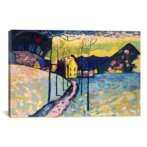 'Winter Landscape' by Wassily Kandinsky Painting Print on Canvas by iCanvas