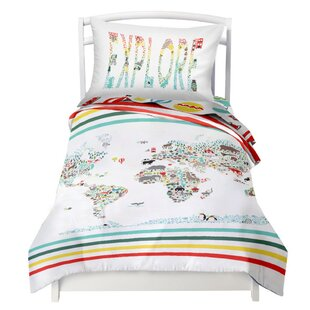 World Map Comforter | Wayfair