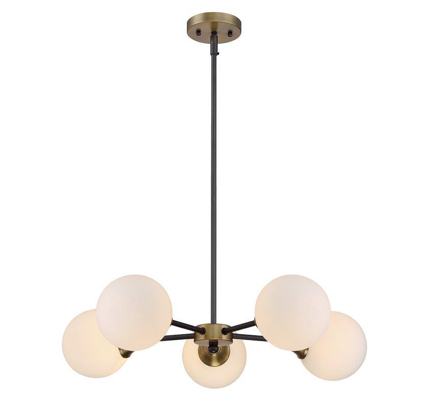 Bautista 5 light sputnik chandelier reviews allmodern bautista 5 light sputnik chandelier aloadofball Images