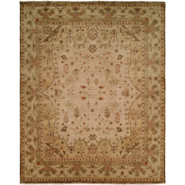 Melbourne Hand-Knotted Beige Area Rug by Wildon Home ®