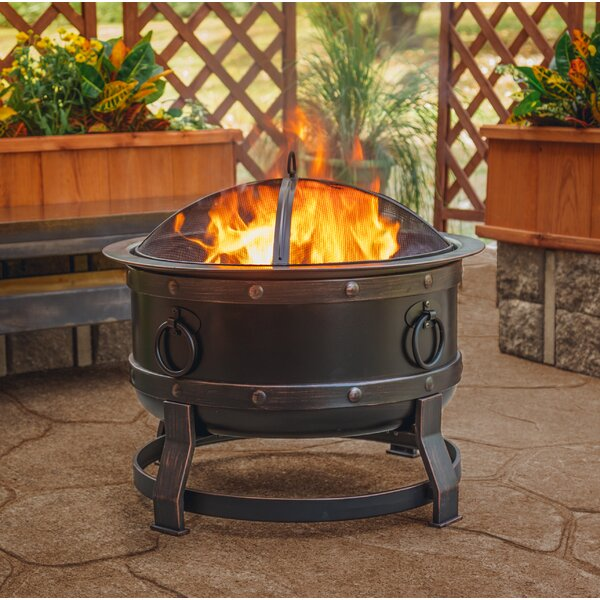 Killian Steel Wood Burning Fire Pit by Pleasant Hearth
