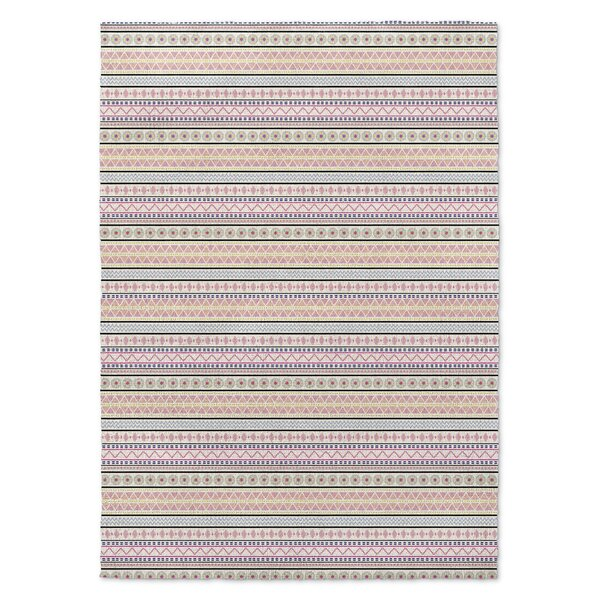 Dunanney Pink/Yellow Area Rug by Harriet Bee