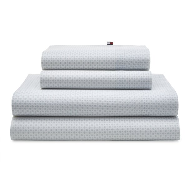 Hexagon Dot 180 Thread Count Sheet Set (Set of 4) by Tommy Hilfiger