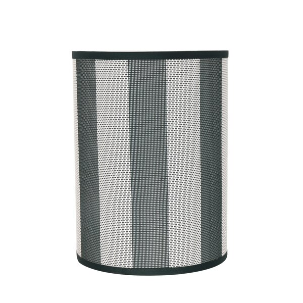 11 H network fabric Drum Lamp Shade ( Spider ) in Black/Gray