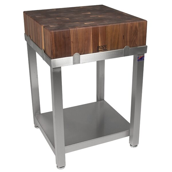 Cucina Americana LaForza  Prep Table with Butcher Block by John Boos