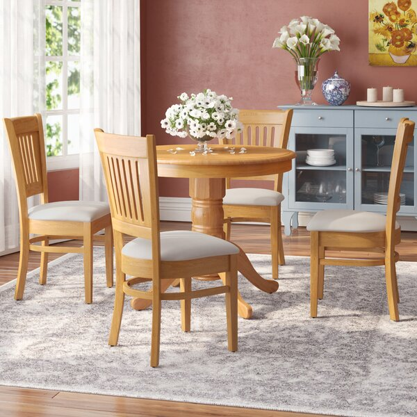 Cedarville Elegant 5 Piece Rubber Solid Wood Dining Set by Alcott Hill Alcott Hill