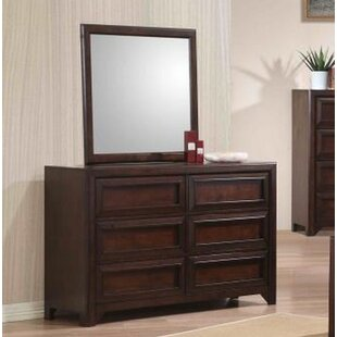 Compare Serrano 6 Drawer Double Dresser with Mirror ByHarriet Bee