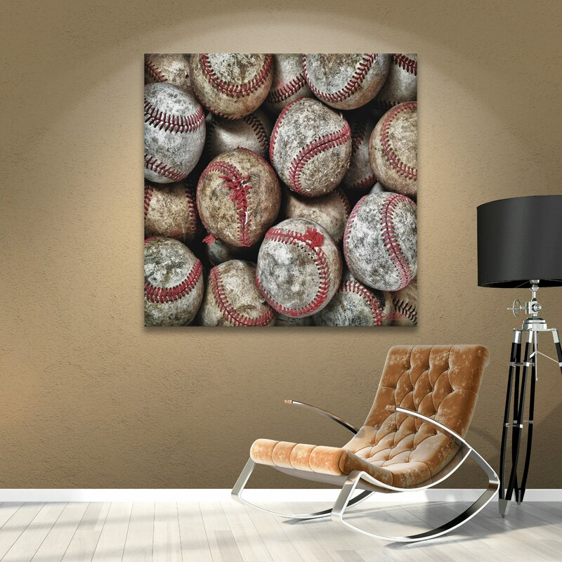 Baseballs' by Antonio Raggio Photographic Print on Wrapped Canvas
