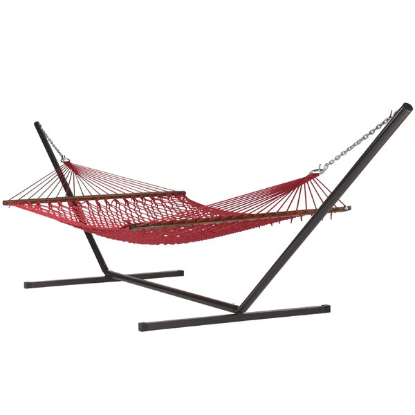 Blanco Double Spreader Bar Hammock with Stand by Highland Dunes Highland Dunes