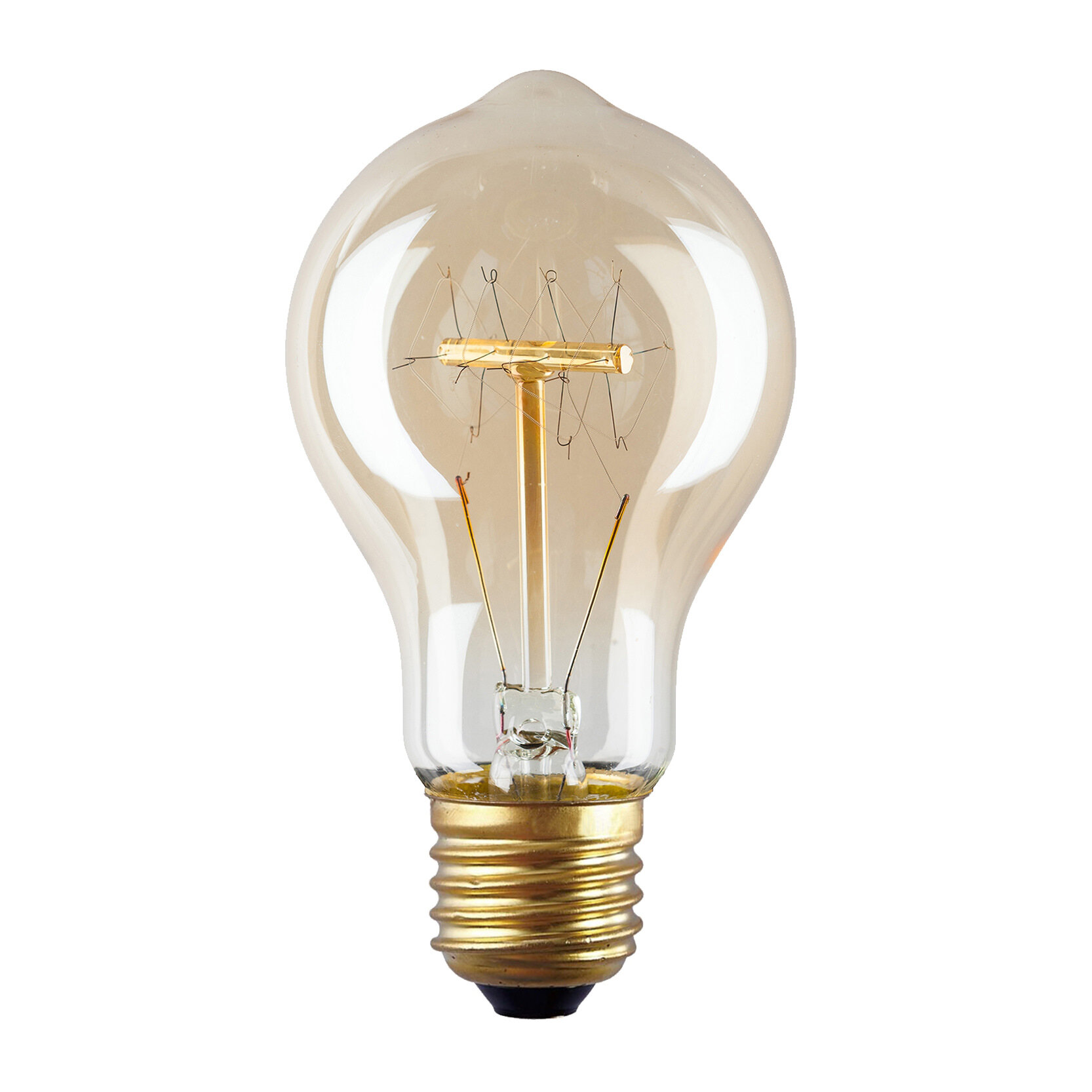 Light Society 40W Amber E26 Incandescent Edison Standard Light Bulb |  Wayfair