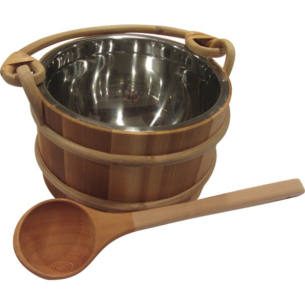 Wooden Pail and Ladle Set by Baltic Leisure