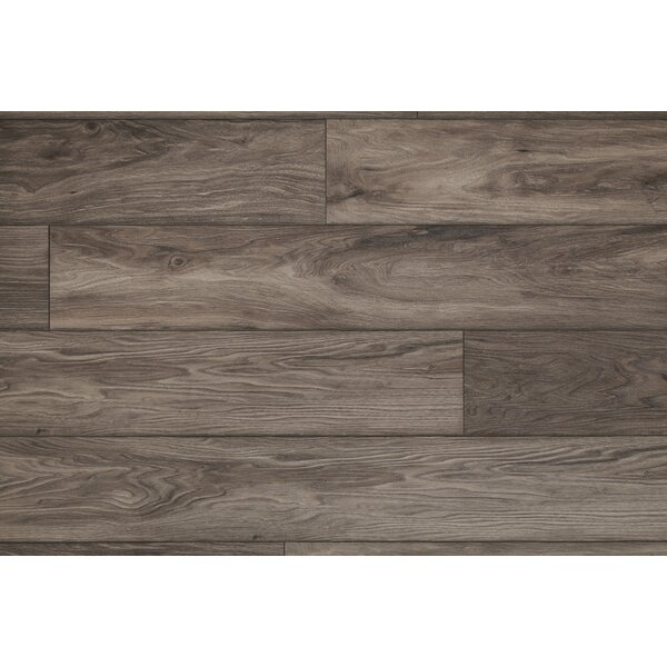 Restoration Wide Plank 8'' x 51'' x 12mm Laminate Flooring in Storm by Mannington