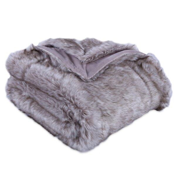 Avalon Faux Fur Throw by Eider & Ivory