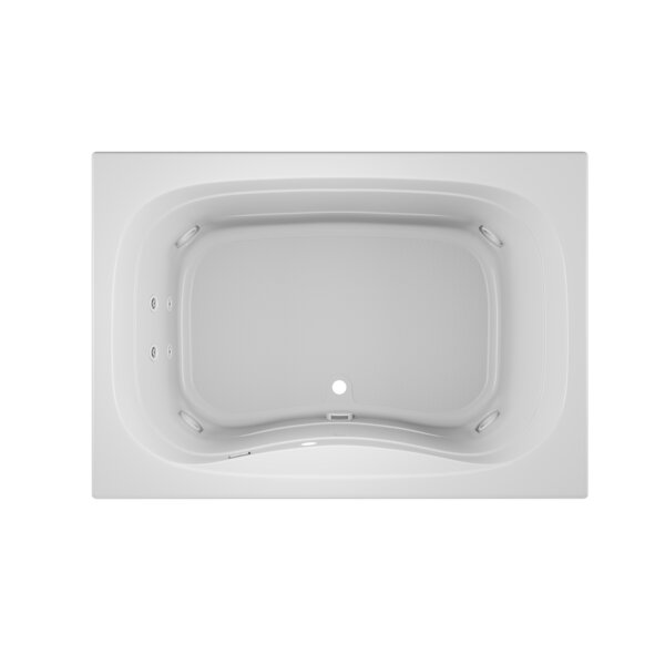 Signa Right-Hand Heater 60 L x 42 W Drop In Whirlpool Bathtub by Jacuzzi®