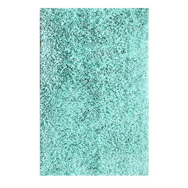 Hand Woven Shag Aqua Area Rug by Affinity Linens