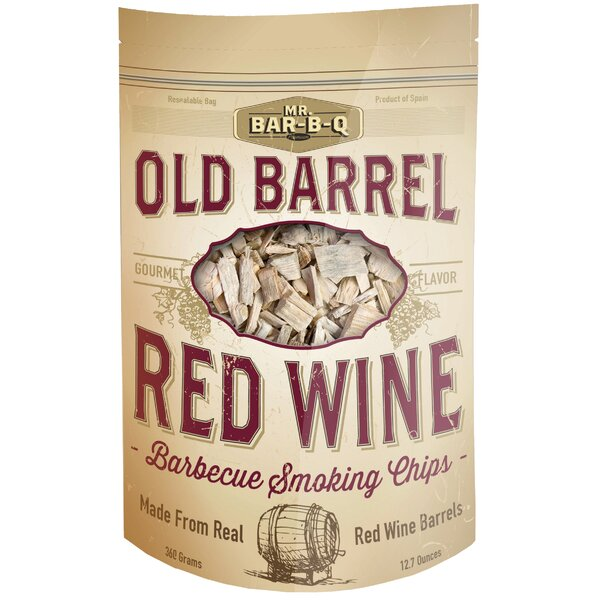 Old Barrel Red Wine Barbecue Smoking Chips by Mr. Bar-B-Q