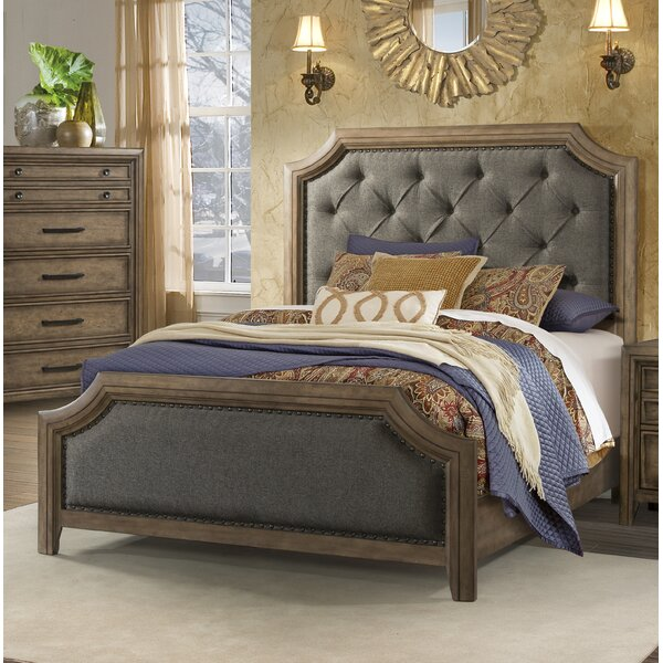 Odette Upholstered Panel Bed by One Allium Way