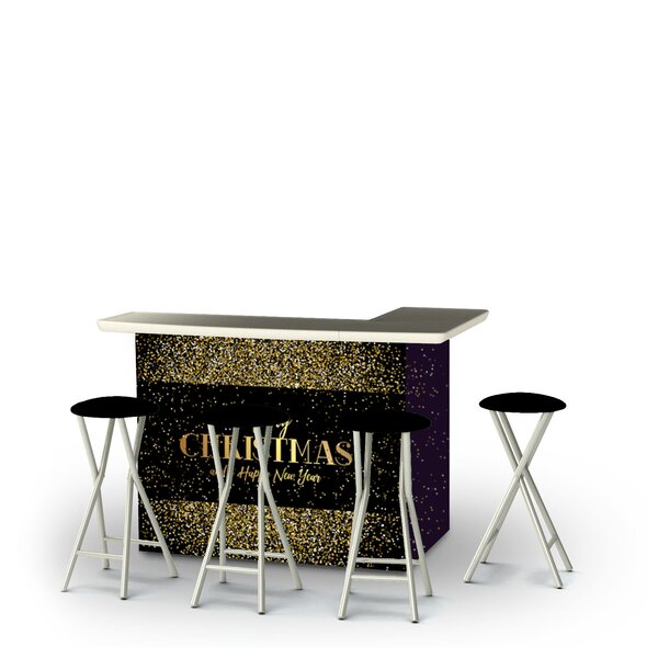 Wunibald Christmas New Year Confetti 5-Piece Bar Set by East Urban Home