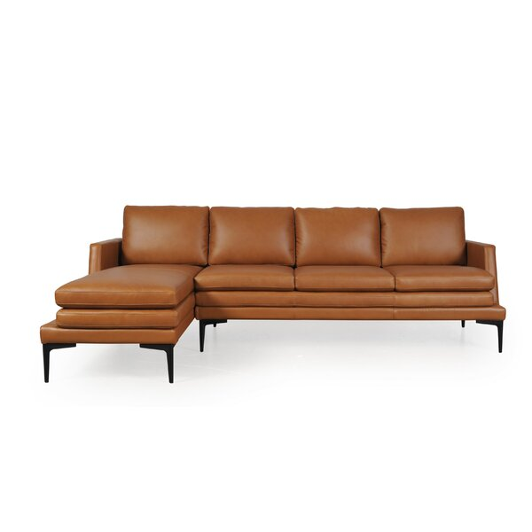 Arteaga Full Leather Sectional by Brayden Studio