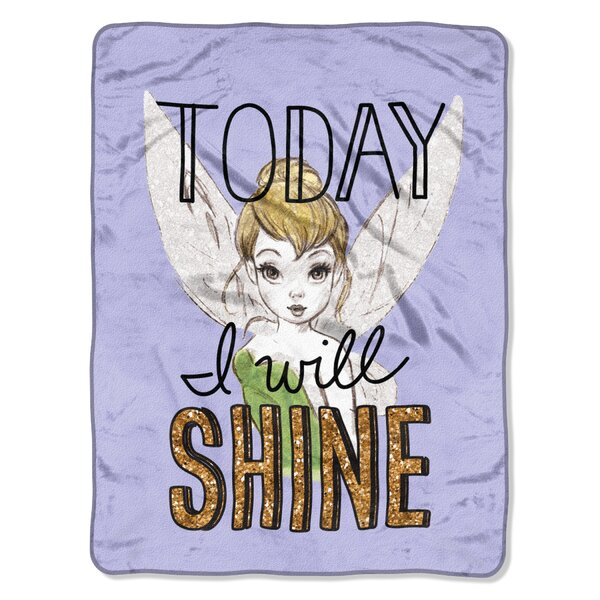 Tinker Bell Shine Today Throw by Northwest Co.
