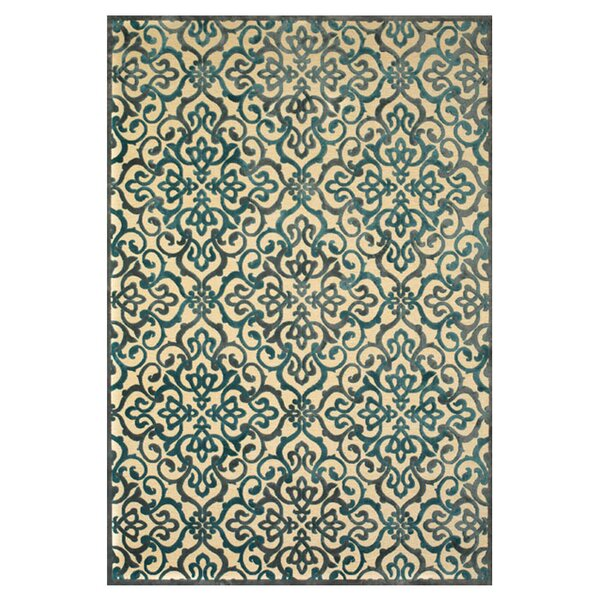 Coatsburg Cream/Green Area Rug by Charlton Home