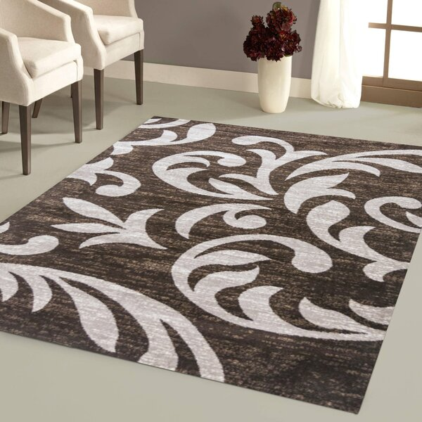Nader Brown Area Rug by Andover Mills