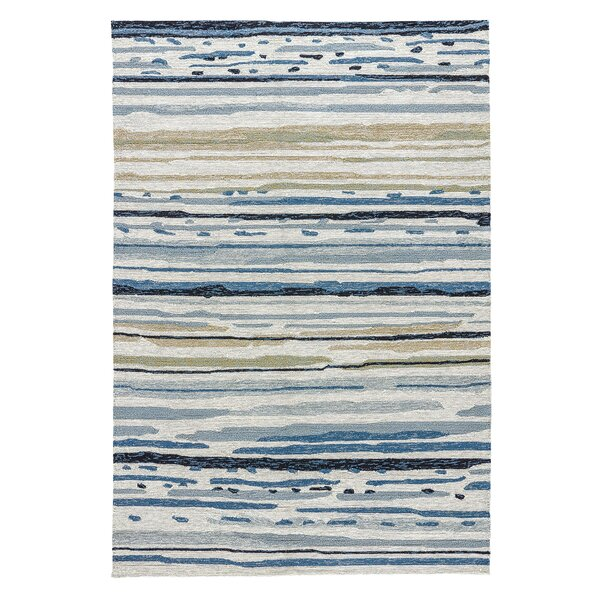 Hand-Hooked Gray Indoor/Outdoor Area Rug by The Conestoga Trading Co.