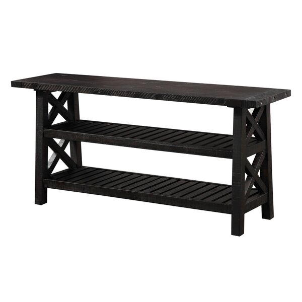 Peninsula Slatted 2 Tier Console Table By Loon Peak