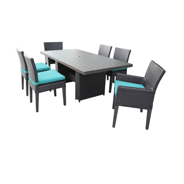 Fernando 7 Piece Outdoor Patio Dining Set with Cushions by Sol 72 Outdoor