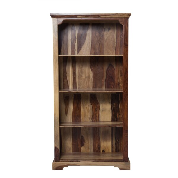 Staley Solid Sheesham Wood Standard Bookcase by Loon Peak