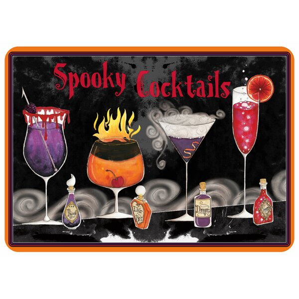 Spooky Cocktails Kitchen Mat by Bungalow Flooring