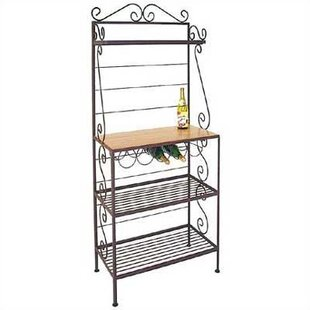 Check Out Gourmet Wrought Iron Baker's Rack Great price