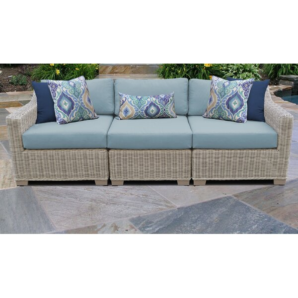 Claire Patio Sofa with Cushions by Rosecliff Heights
