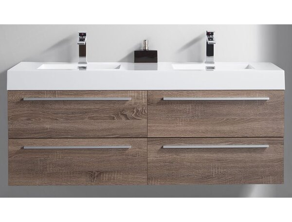 Bolivia 59 Double Bathroom Vanity Set by Foundry Select