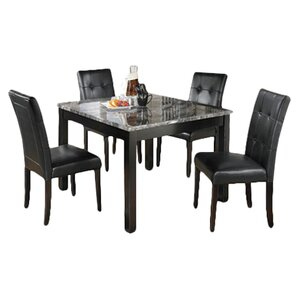 Maysville 5 Piece Dinette Set In Black U0026 Grey