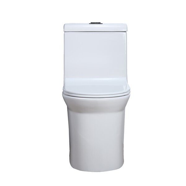 Dual-Flush Elongated One-Piece Toilet with Seat by Hometure