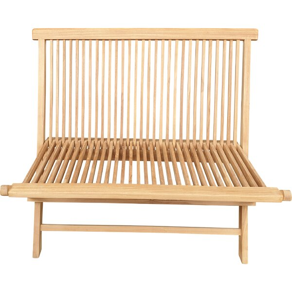 Caswell Teak Garden Bench by Highland Dunes