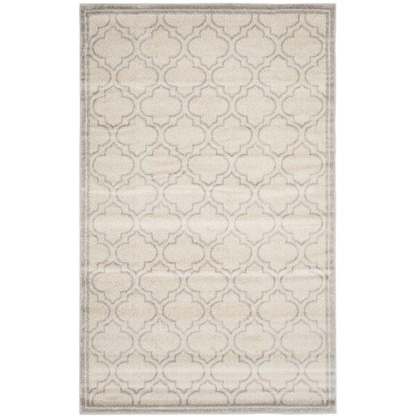 Maritza Geometric Ivory/Light Gray Indoor/Outdoor Area Rug by Willa Arlo Interiors