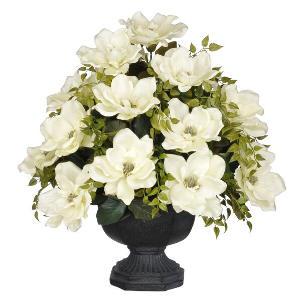 Artificial Magnolia with Tea Leaves by House of Silk Flowers Inc.