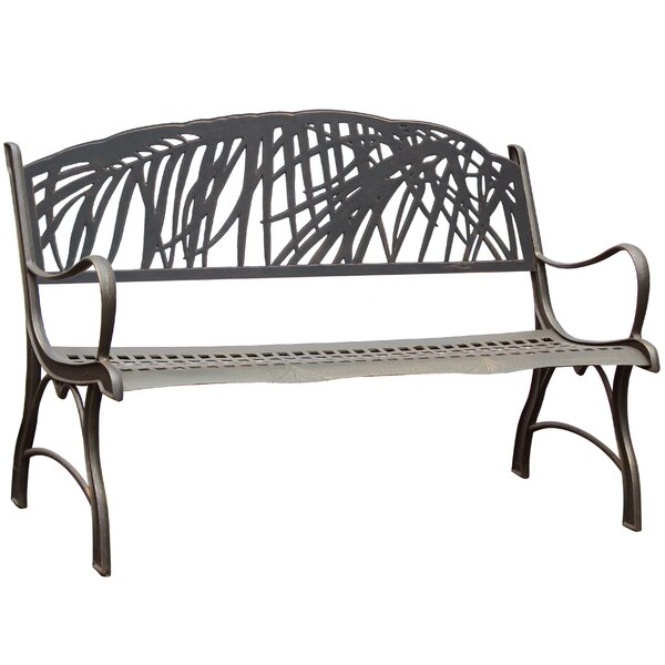 Milaca Palm Cast Iron Park Bench by Canora Grey