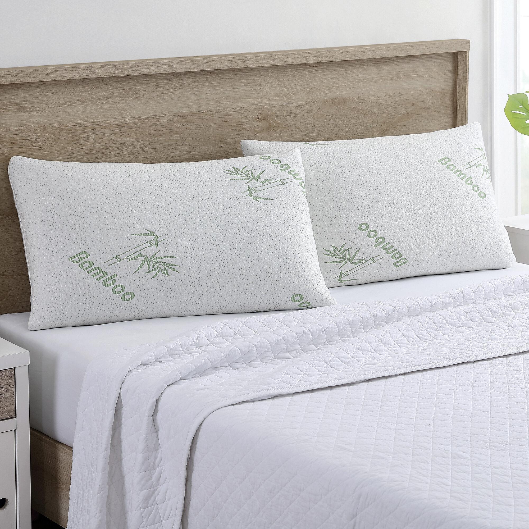 Alwyn Home Bonifacio Rayon From Bamboo Firm Memory Foam Bed Pillow