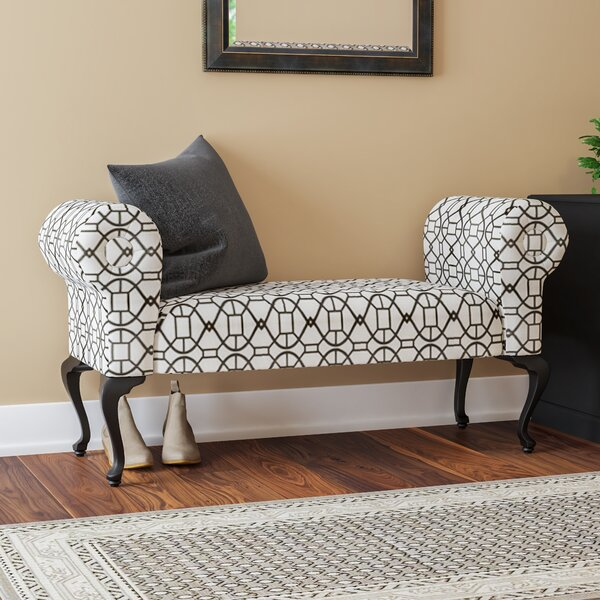 Deford Cabriole Legs Upholstered Bench by Charlton