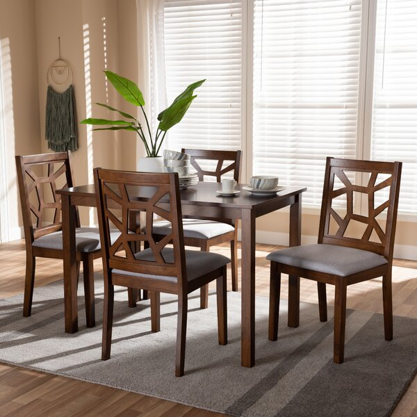 Halewood 5 Piece Dining Set by Ebern Designs