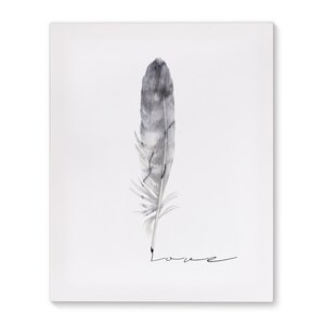 Feather Love Graphic Art on Wrapped Canvas by KAVKA DESIGNS