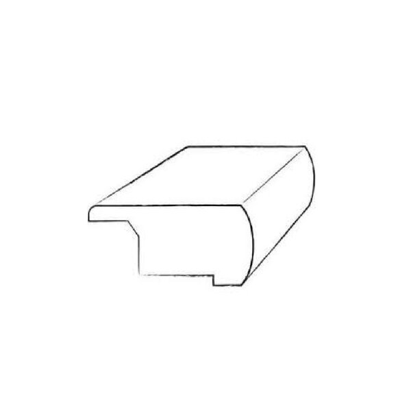 0.81 x 3 x 78 Oak Stair Nose in Johan by Kahrs