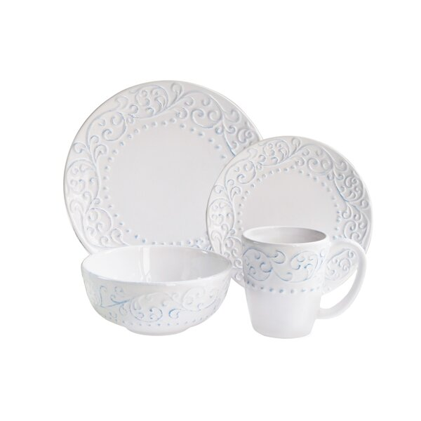 Amandine 16 Piece Dinnerware Set, Service for 4 by Lark Manor