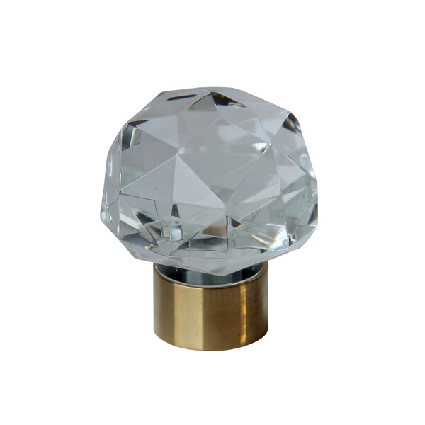 Diamond Cut Clear Cabinet Crystal Knob by RCH Supply Company
