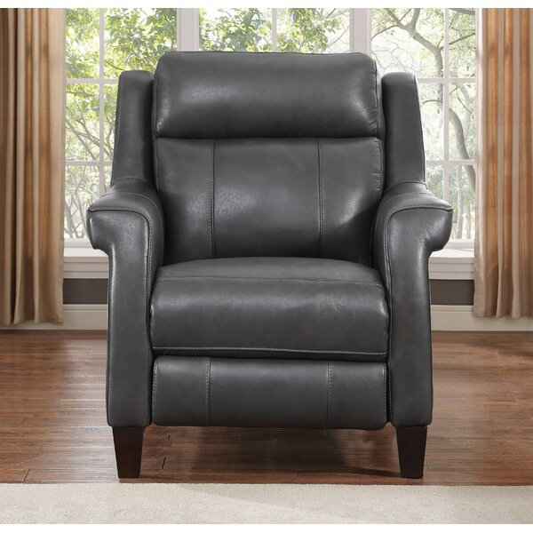 Guyette Leather Power Recliner By Red Barrel Studio