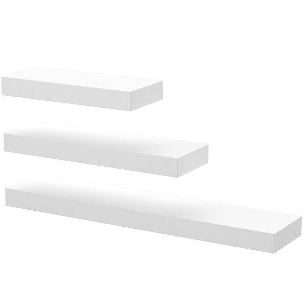 Rectangle 3 Piece Wall Shelf Set by Mercury Row